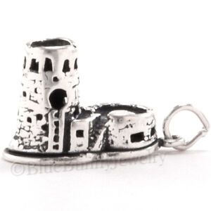 WATCH-TOWER-GRAND-CANYON-Charm-Pendant-Arizona-Travel-STERLING-SILVER-3D-925