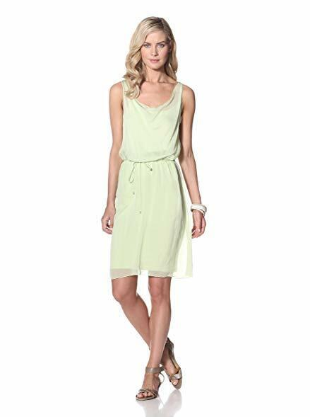 Elie Tahari  Blake  Painted Lady Cocktail Party Silk Celery Stalk Dress Slip XL