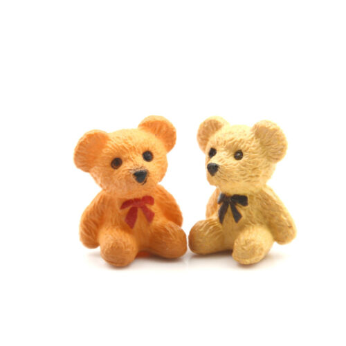 4pcs//lot Bear Figures Mini Fairy Garden Animals Statue Miniature zh