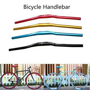 31-8mm-Manillar-Elevado-Curvo-Aleacion-Bicicleta-Bici-MTB-Montana-Longitud
