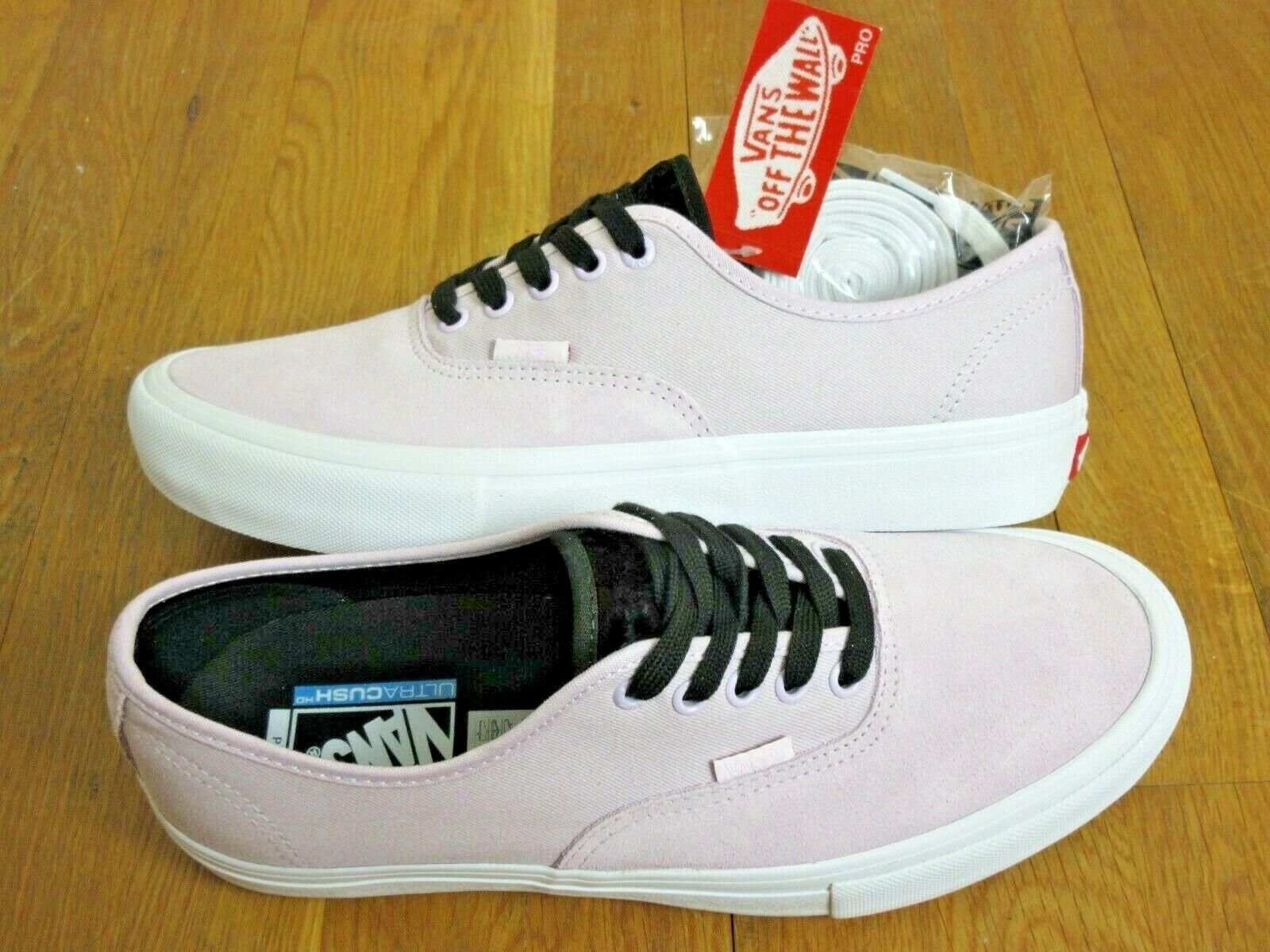 Auténticas VANS para hombre Pro terciopelo lavanda blancoo ante y lona zapatos Nuevo con etiquetas