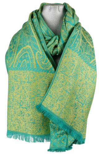 BELLA Sciarpa Pashmina Paisley Paisley Texture Da Donna Stola Moda Wrap lunga grande