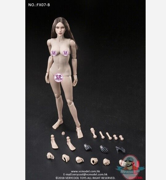 1 6 Supermodel Head Sculpt + Female Body Set Very Cool X07-B