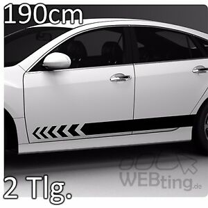190cm-Stripe-reunir-PEGATINA-COCHE-laterales-Tira-Carreras-75