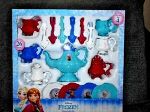 Image is loading Disney-Frozen-Dinnerware-Set-Tea-Set-26-Piece-  sc 1 st  eBay & Disney Frozen Dinnerware Set/Tea Set 26 Piece Service For 4 - NEW | eBay
