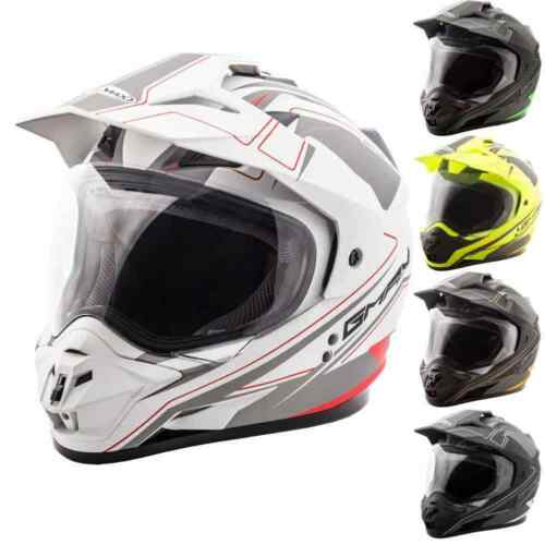GMAX GM11D Dual Sport Expedition Mens Street Motorcycle Helmets