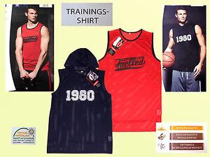 Herren-Traningsshirt-Sportshirt-T-Shirt-Netzshirt-Fitnessshirt-Tank-Top-Gr-M-XL