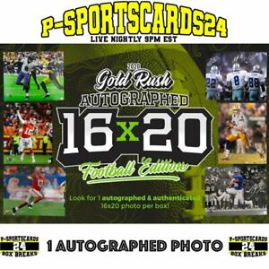 2020-GOLD-RUSH-AUTOGRAPHED-16X20-FOOTBALL-PHOTO-NFL-NCAA-LIVE-BOX-BREAK-3683