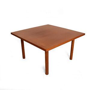 Hans Wegner Teak Oak Coffee Table Mid Century Danish Modern EBay - Mid century oak coffee table