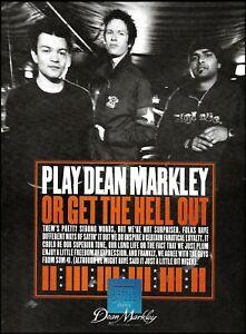 SUM 41 Deryck Whibley Jason McCaslin Dave Baksh Dean Markley Guitar Strings ad