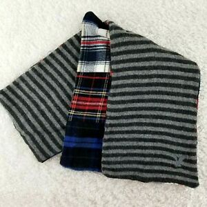 AEO-American-Eagle-Outfitters-mens-mixed-fabric-scarf-SIZE-L-flannel-sweater-G