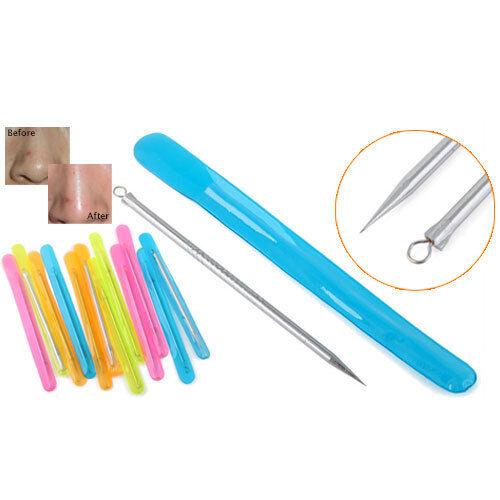 5pcs Stainless Steel Blackhead Pimples Acne Needle Tool Spots Clean Treatment
