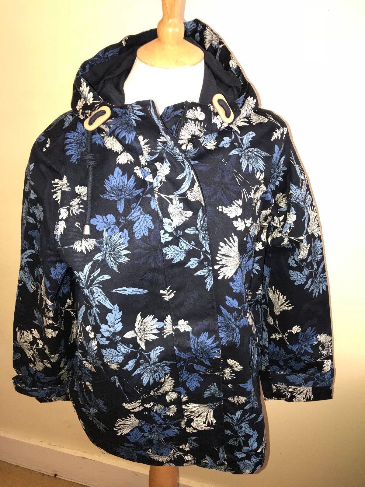JOULES Coast Parka Style Waterproof Coat Fanfayre Sz 12 16 16 16 RP.95 FreeUKP&P 80a527