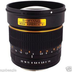 Samyang 85MM F1.4 Lens Nikon Brand New With Shop Agsbeagle