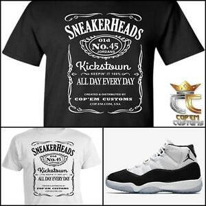 78aef8bbb120 EXCLUSIVE TEE T SHIRT  1 to match NIKE AIR JORDAN 11 CONCORD 2018