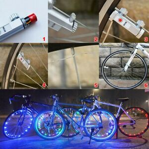 20 LEDs Cycling Bicycle Bike Rim Lights LED Wheel Spoke Light String Strip Decor