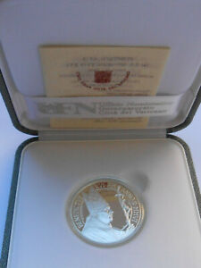 2006 Vatican Italy RARE silver coin PROOF 5 Euro World Day Peace Benedetto XVI