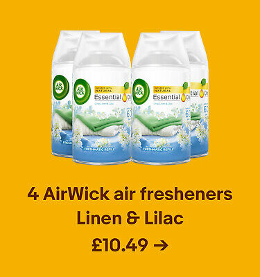 4 AirWick air fresheners Linen & Lilac £10.49