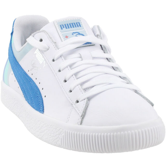 san francisco ebe14 2df75 Puma Pink Dolphin Clyde Casual Sneakers - White - Mens