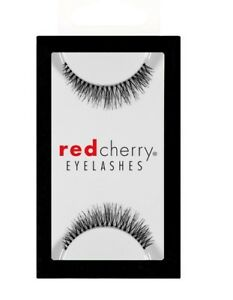 Red-Cherry-BRANSON-747-xs-short-falsche-kuenstliche-Wimpern-false-strip-lash