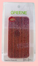 Authentic GREENE Red Rhinestone iPhone 4/4S Cover Case *NEW IN ORIGINAL PACKAGE*