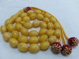 Poland Kahraman Amber Dust 33 Islamic Prayer Beads Misbah Tasbih Komboloi Rosary