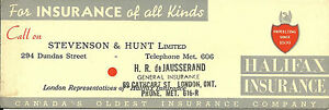 Vintage-Ink-Blotter-Stevenson-Hunt-deJausserand-Insurance-London-ON-Canada
