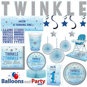 Image Is Loading Twinkle Little Star Boy 039 S 1st Birthday