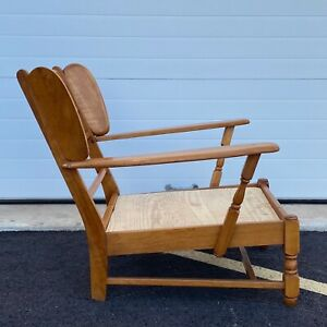 Heywood Wakefield Paddle Arm Lounge, Lounge Chairs With Wooden Arms