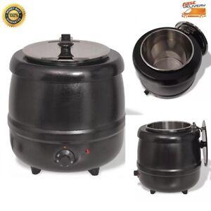 10-L-Suppenkessel-elektrische-Suppentopf-Suppenwaermer-Kochtopf-Gulaschtopf