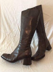 5 marrone pelle color bromley taglia marrone ginocchio in e al 39 Stivali gxqOf0