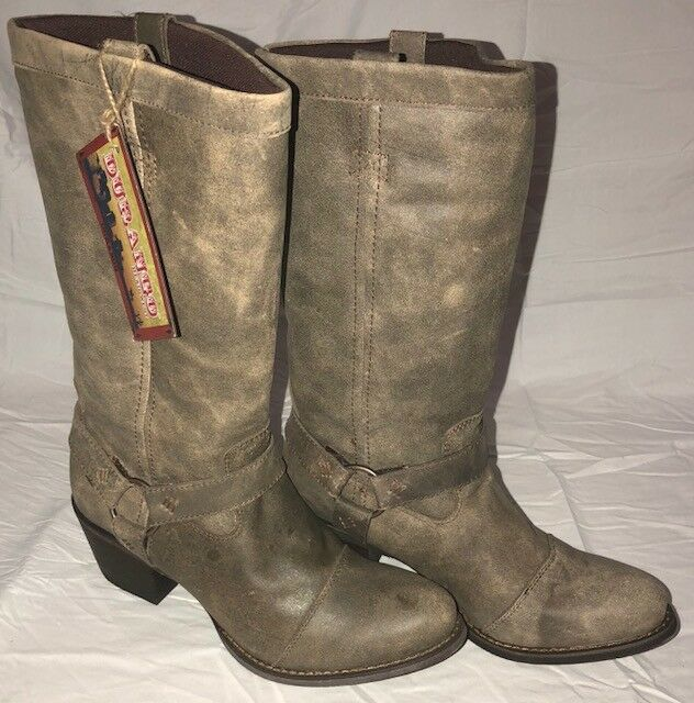 Womens Durango 13  Philly Harness Fawn Brown Zip Up Boots Size 9.5 RD4517 NIB
