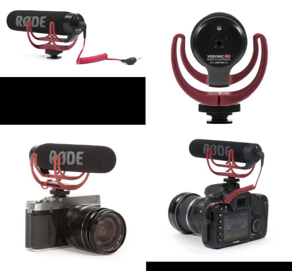 RØDE VideoMic GO On Camera Microphone - Black/Red UK SELLER