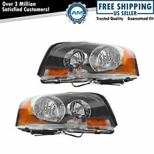 Halogen Headlights Headlamps Left Amp Right Pair Set Of 2 For 03 13 Volvo Xc90 Fits Volvo