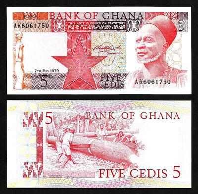 Prefix C1 Consecutive P-23a Unc 2 Pcs Pair Ghana 10 Cedis,15-05-1984
