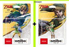Pre amiibo Zelda Link Skyward sword & Twilight Princess Nintendo Legend  Japan