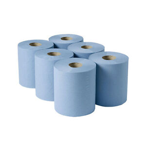 Details about Crown Supplies Centerfeed Economy Roll 2ply Blue - Pack of 6