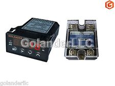 Universal 132din Pid Temperature Controller Red 25a Ssr
