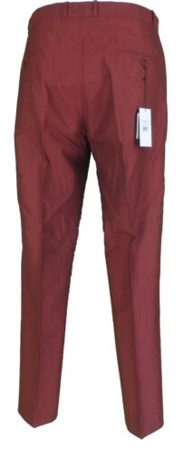 Vintage Sta 60s Retro Mod Trousers 70s Press Tonic black Burgundy 0fqwEYx