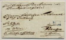 Österreich 1845 Brief (mit Inhalt) BLAUSTEMPEL BRÜNN. R.s ROTSTEMPEL VICENZA