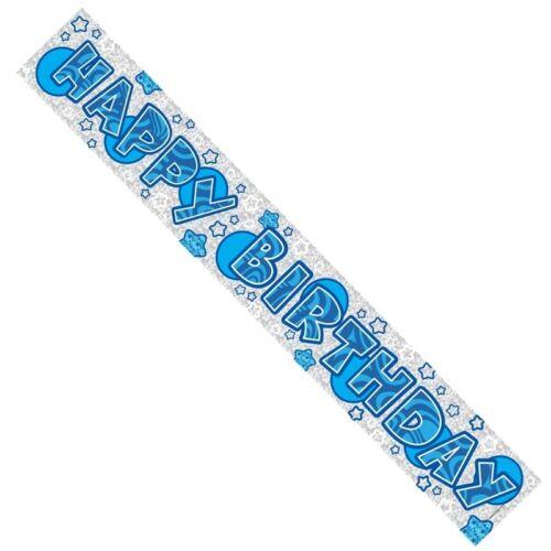 ba1007 Feliz Cumpleaños Banner Macho Blue Boy