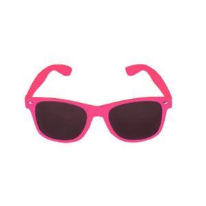Neon-Pink-Framed-Dark-Lens-Fancy-Dress-Raver-Sunglasses