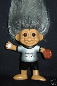 CHICAGO WHITE SOX  RUSS SPORTS TROLL DOLL PIN NEW ON CARD