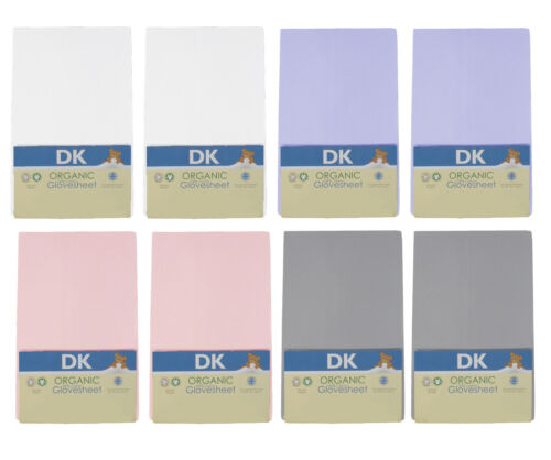 84x36cm DK Glovesheets GOTS Certified 100/% Organic Cotton Fitted Crib Sheets