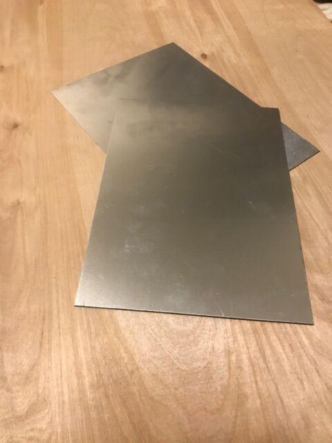 "4/""x6/"" 304 Stainless Steel Plates Sheet Metal Welding Test 2pc 14gauge .075/"""