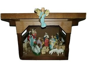 Nativity-Made-in-Italy-Vintage-Balthazar-Jesus-Animals-Stable-16pc-Christmas-Set