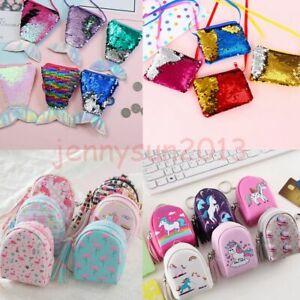 Cute-Mermaid-Unicorn-Glitter-Sequin-Zipper-Wallets-Kids-Coin-Purses-Storage-Bag