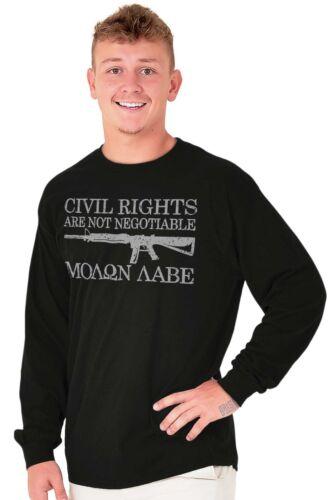 Civil Right Molon Labe USA ShirtGun 2nd Amendment America Long Sleeve Tee