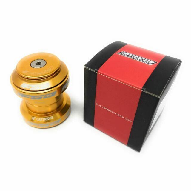 """FSA Orbit MX MTB or Road Headset Gold 1-1//8/"""" Threadless"""