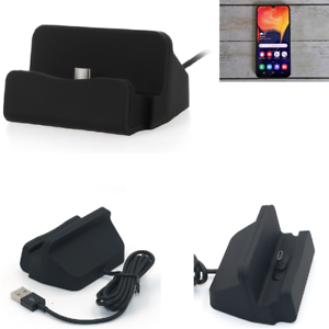 Docking-Station-per-Samsung-Galaxy-A50-USB-Type-C-Caricabatterie-nera-cavo-Dock